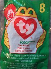 McDonalds TY Teenie Beanie Baby 1998 #8 Scoop NIP Factory Sealed Happy Meal Toy