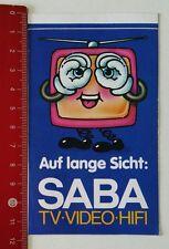 ADESIVI/Sticker: sul lungo periodo Saba TV-VIDEO-HIFI (05021727)