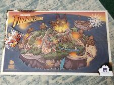Fireball Island Kickstarter Exclusive Marbles and Poster