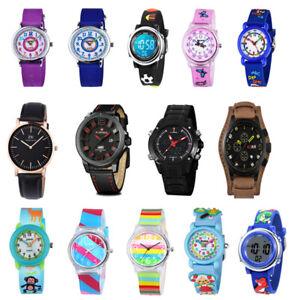 Kinderuhr Armbanduhr Sport Lernuhr Quarz Analog Uhr Jungen Mädchen Watch