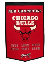 """Chicago Bulls Embroidered Wool Dynasty 24"""" x 36"""" Banner Pennant"""