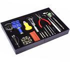 20 Pcs Watchmaker Watch Repair Tool Kit Back Case Opener Remover Spring Pin Bars
