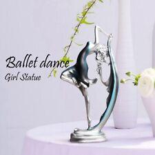 Ballerina girl dance resin statue elegant figure craft creative home deskto Q7H3