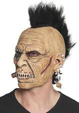 Maske Rocker Punker mit Irokesen Schnitt Latex Horror Grusel Karneval Halloween