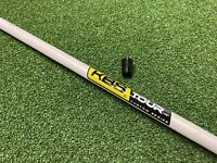 1 X New KBS Tour Custom Wedge Shaft Stiff. White Pearl with Yellow Label