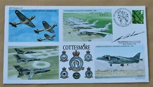 RAF COTTESMORE 2006 COVER SIGNED BY WING COMMANDER ERIC REEVES