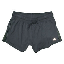 Alo Running Activewear Shorts Black Wide Waistband Mesh Size Small