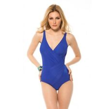 Miraclesuit Oceanus One Piece Swimsuit Blue no underwire 451288 BNWT AU 16, AU20