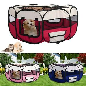 Foldable Pop Up Fabric Dog Crate Cat Cage Pet Travel Puppy Play Pen Tent Outdoor
