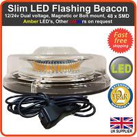 LED BEACON Magnetic / Bolt Recovery Flashing Warning Strobe Light lightbar Amber