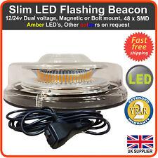 Lámpara Led Magnética / De Perno de recuperación de advertencia de parpadeo luz estroboscópica banderillero ámbar