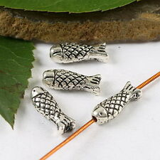 25Pcs Tibetan silver fish spacer beads h1755