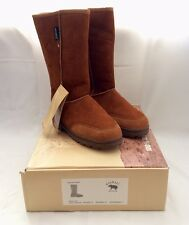 WARMBAT WOMEN 100% AUSTRALIAN SHEEPSKIN BOOTS, SIZE 11 (10?) WOMEN, CHESTNUT