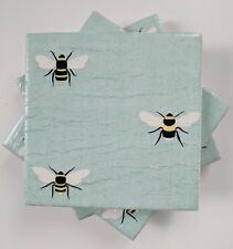4 Ceramic Coasters in Sophie Allport Busy Bees