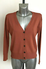 M&S Collection Size 10 18 20 Long Sleeve V Neck Viscose Cardigan Bnwt Tan