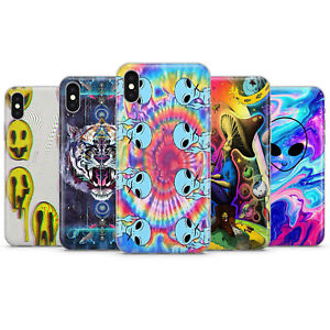 ALIEN PSYCHEDELIC Phone Cases TRIPPY HIPPY ILLUSION art UFO covers fit iPhone X
