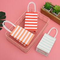 5/10/20x Cross Stripe Paper Party Loot Handles Bags Wedding Birthday Gift Bags