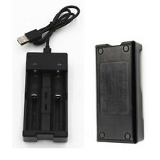 2Slots Smart Battery Charger for 18650 Rechargeable Li-Ion Battery USB Universal