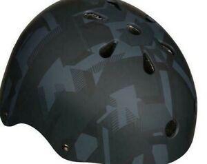 Halfords Kids Print Skate Helmet 48-54cm (Age 4-11) With Chin pad UK SHIP FOC