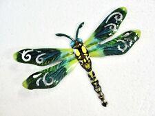 "New listing Home Garden Decor - Dragonfly Wall Art 711725 Metal 6.5"" X 6.5"" Green Multi New"