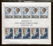 MONACO #1369a MNH VF OG EUROPA Balloon Space Shuttle Souvenir Sheet 1983