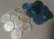 20 Pirates Trésor de pièces - 10 Gold Doubloons Et Argent 10 2 reales