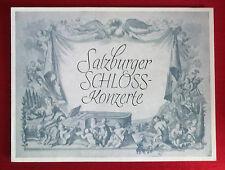 Programm Salzburger Schlosskonzerte, 14.9.1956