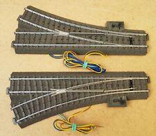 Märklin H0 C-Gleis Weichenpaar 24612 +24611 mit Weichenantrieb und Laterne
