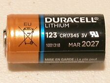 8 DURACELL CR123 123 DL123 LITHIUM BATTERY CR123A 17345 EXPIRE 2027