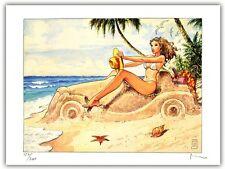 Affiche BD Milo MANARA Filles et Voitures Donne e Motori 09 signé 200ex 30x40 cm