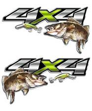 Walleye Fishing Truck 4x4 Decal Set for Chevy GMC Trucks Trophy Lure Angler Erie