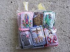 Lot of 12 All Different Colorful Cloth Scapulars - Mexico