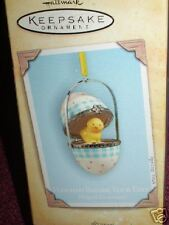 2004 Hallmark Ornament HATCHED BEFORE YOUR EYES Porcelain EGG chick chicken