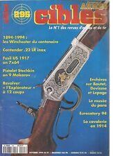 CIBLES N°295 WINCHESTER / CONTENDER 22 LR INOX/FUSIL US 1917/PISTOLET STECHKIN
