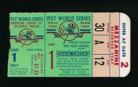 1957 World Series Ticket Game 1 New York Yankees Braves Nice Free Shipping