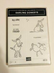 Darling Donkeys Stamp Set, Retired, Birthday, Donkeys, Good Condition