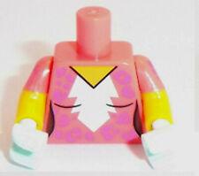 Lego Minifig Coral Torso x 1 White Blaze & Medium Lavender Rosettes Pattern