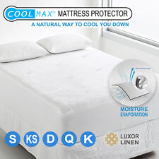 All Size Coolmax Mattress Protector Pillow Cover Cool Summer Pad