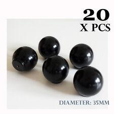 20 X Wooden Knobs BLACK Kitchen Door Handles Cabinet Cupboard Amazoak 35 mm