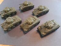Flames of War U.S. M4a1 Sherman Desert lot X6 Pro-Painted FOW
