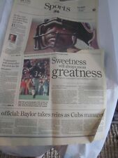THE NEWS SUN NOVEMBER 2 1999 SPORTS SECTION WALTER PAYTON PAPER