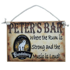 Country Printed Quality Wooden Sign NAMED Rum Bar Personalized Plaque New