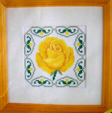 Yellow Rose – Semco Easy Counted Cross-stitch Kit