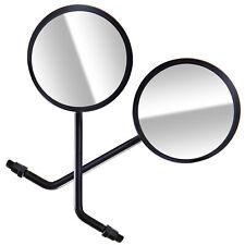 1 Paar Schwarz Universal-Motorradspiegel Rückspiegel mit E-Prüfzeichen 10mm/M10
