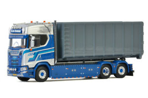 """Scania S CS20H hooklift system+container""""Klein Kromhof""""WSI truck models 01-3325"""