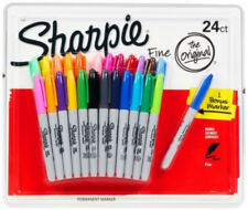 24 + 1 SHARPIE Markers Coloured Permanent Sharpies Marker Pen Fine Point (Loose)