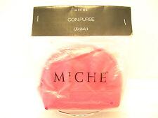 Retired MICHE COIN PURSE - FUCHSIA - Animal Snake Texture Pink Zipper Top NIP