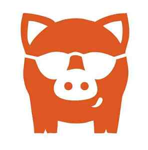 Cool Pig wearing Sunglasses #1032 - Decal / Sticker / Stencil - Made to Order