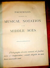 Musical Notation of the Middle Ages 1890 LtdEd Folio of Facsimiles, Briggs,