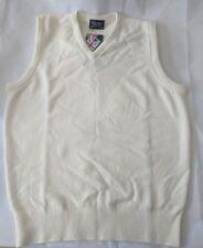 Glenbrae Womens  Lambswool V Neck Slipover Cream Size 8